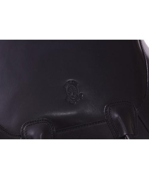 8cb40670b91f8 Torebka skórzana Genuine Leather Włoski kuferek Skórzany Czarny Torebka skórzana  Włoski kuferek Czarny