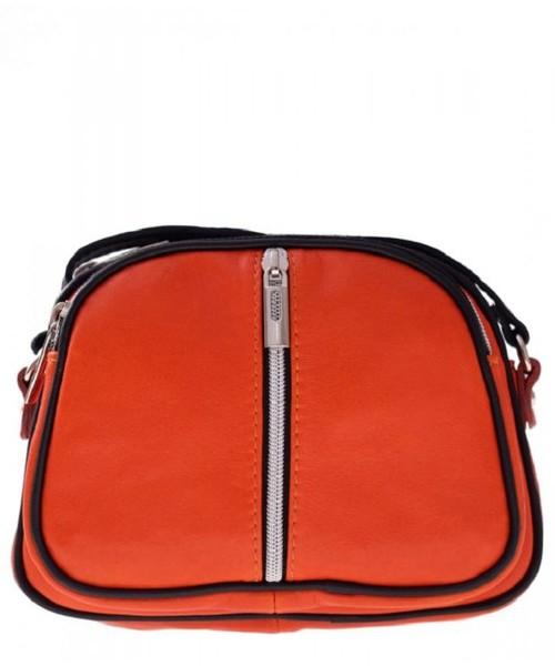 a1285ff71fe2b Torebka skórzana Genuine Leather Bestseller Torebki skórzane Listonoszki  Super Cena Pomarańcz