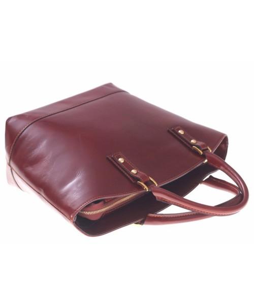 1bccf9e4707cf Torebka skórzana Genuine Leather Bestseller Torebka skórzana typu  Shopperbag Łódka Brązowa