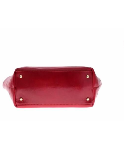 5ea7a045c07a1 Torebka skórzana Genuine Leather Bestseller Torebka skórzana typu  Shopperbag Łódka Czerwona
