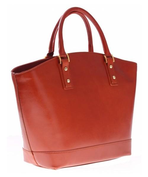5ec0a93cba742 Torebka skórzana Genuine Leather Bestseller Torebka skórzana typu  Shopperbag Łódka Ruda