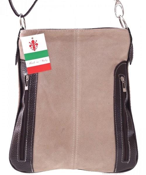 e994a0da1826f Listonoszka Genuine Leather Torebki skórzane Listonoszki Raportówki w super  cenie Beżowa