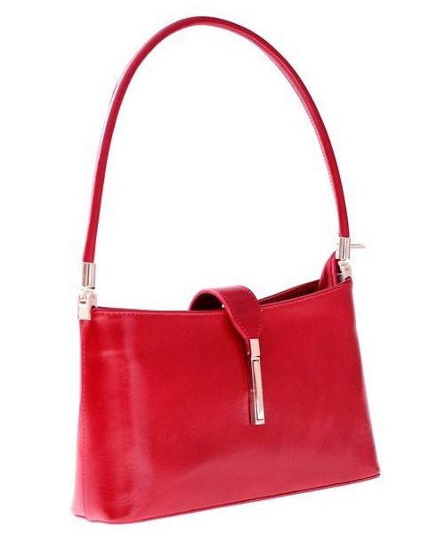 3d4071b3f5ace Kopertówka Genuine Leather Klasyczna i Elegancka torebka skórzana Czerwona