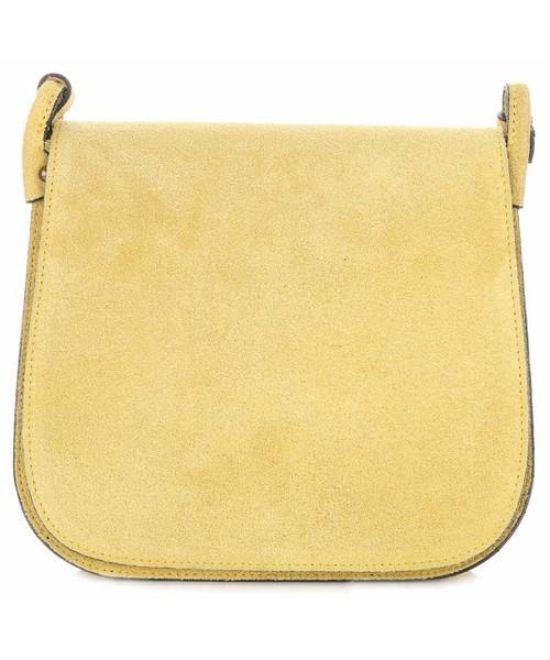 c2fc1a79ba862 Listonoszka Genuine Leather Torebki Listonoszki Skórzane Firmy Żółta