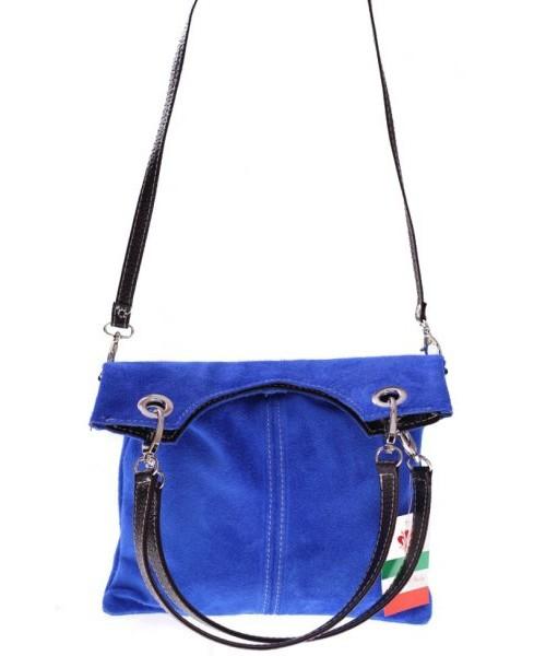 fda579f395d88 Listonoszka Genuine Leather Torebki skórzane Listonoszki w Atrakcyjne Cenie  Niebieska