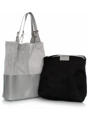 b4cd9aa33958b Shopper bag Genuine LeatherTorebka Skórzana Ekskluzywny Shopper bag Jasno  Szara - panitorbalska.pl