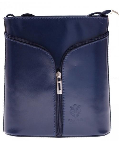 171380c1fe5e0 Torebka Genuine Leather Skórzana torebka listonoszka Granatowa