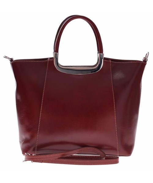 792977134b3dc Kuferek Vera Pelle Elegancki kuferek Skórzany genuine Leather Brązowy