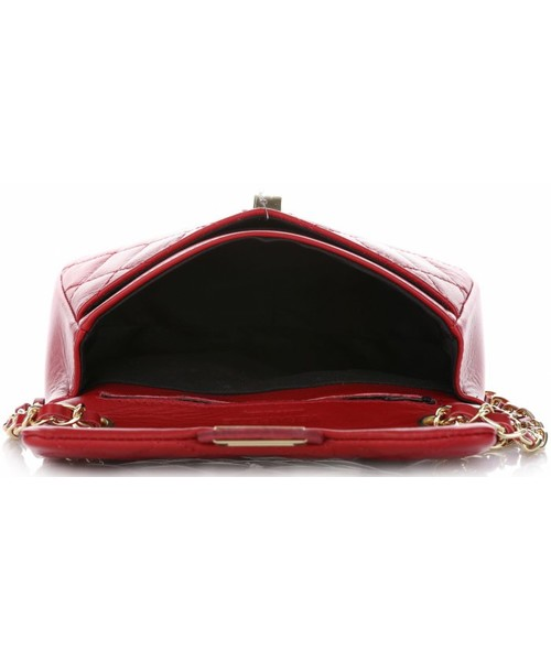 5ec6808a2d7e5 Listonoszka Vera Pelle Włoska Pikowana Torebka ze skóry naturalnej  Listonoszka firmy Genuine Leather Czerwona