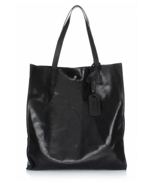 5f6ccba086a46 Vera Pelle Torba Skórzana Shopper Bag z Kosmetyczką Czarna, shopper ...