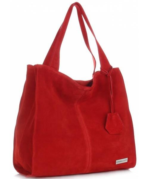 95ae249321cf2 Shopper bag Virus Vittoria Gotti Uniwersalne Torebki Skórzane Na co dzień  ShopperBag XL Czerwona