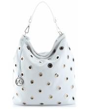 7388c086090db Shopper bag VirusModna Torebka Skórzana typu Shopper Bag wykonana z  wysokiej jakości zamszu naturalnego firmy Vittoria Gotti Biała -  panitorbalska.pl