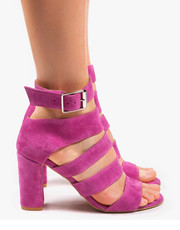 ba8bdcef3657d3 Sandały Różowe sandały damskie skórzane 2732/E35 - oleksy.pl Oleksy