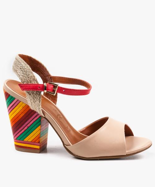 6acf9c8dc013d sandały Oleksy Wielokolorowe sandały damskie skórzane EXI50980/ATANADO BLUSH