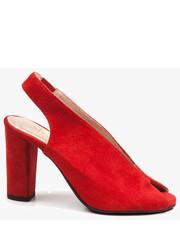 c92ff5528d90c Sandały Czerwone sandały damskie skórzane 2722/955 - oleksy.pl Oleksy