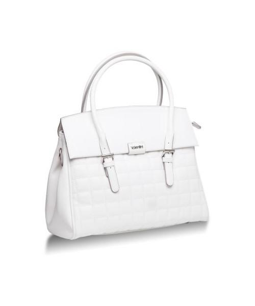0cf8e31ee35f8 Valentini Duża pikowana torebka Cubico 2105 Biały Pikowany, kuferek ...