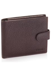 818ca4299d29f Portfel ValentiniSkórzany portfel męski Camel z RFID 293 Brązowy Skóra  naturalna Na zatrzask - Valentini.pl