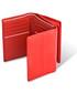 Portfel Valentini Portfel damski Black&Red Diamond 263 Czarny  Portmonetka  Skóra cielęca