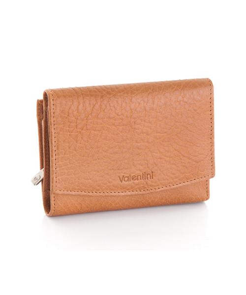 982df02663cb1 portfel Valentini Skórzany portfel damski RFID Camel 0P6 Beż Skóra  naturalna Portmonetka