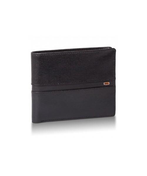 212a6a1199991 portfel Valentini Skórzany portfel męski Amber 901 Czarny Skóra saffiano Na  zatrzask