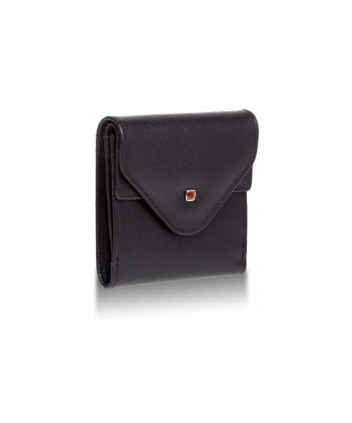 b0c327ead80a5 portfel Valentini Skórzany portfel Amber 417 Czarny Skóra saffiano