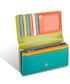 Portfel Valentini Skórzany portfel Colors 550 Koralowy  Skóra naturalna  Na zatrzask