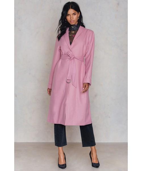 33f1af6db8 płaszcz NA-KD Różowy płaszcz
