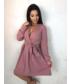 Sukienka Tooshe LULA - RÓŻOWA ROZKLOSZOWANA SUKIENKA