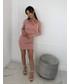 Sukienka Tooshe NAYLA - PUDROWY RÓŻ DOPASOWANA SUKIENKA MINI