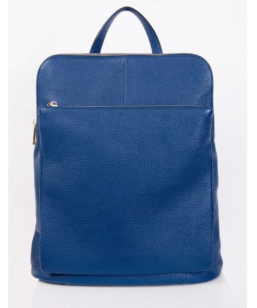 c2d0bd441b0b2 torebka skórzana VERA BAGS Skórzany plecak damski z opcją torebki VP 20217  BLUE