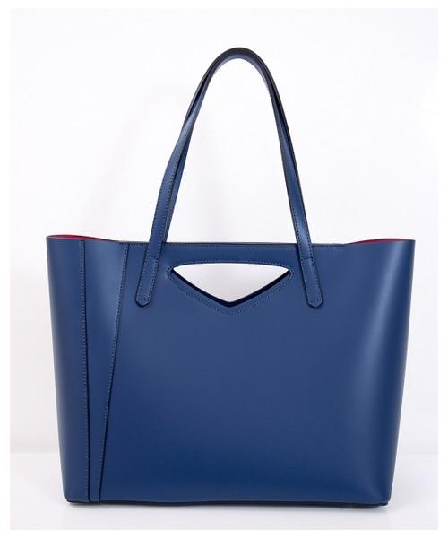a74ea68c52d18 torebka skórzana VERA BAGS Elegancka torebka damska skórzana VP 40317 Dark  blue